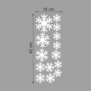 Sweet Snowflake Pattern Vinyl Wall Decal Stickers Christmas Decoration - WHITE