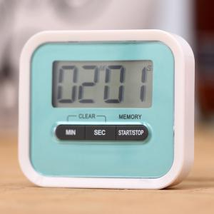 Portable Count Down Timer with LCD Display for Kitchen / Lab - Blue - 43*43cm