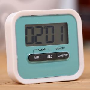 Portable Count Down Timer with LCD Display for Kitchen / Lab - BLUE