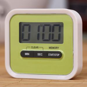 Portable Count Down Timer with LCD Display for Kitchen / Lab - Green - 43*43cm