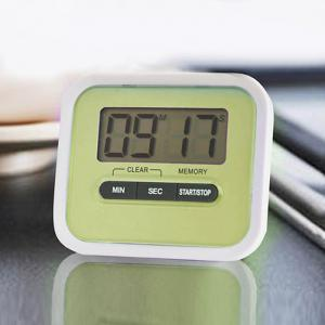 Portable Count Down Timer with LCD Display for Kitchen / Lab - GREEN