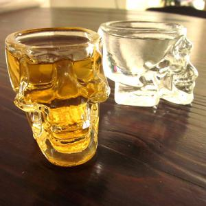 Mini Fancy Crystal Skull Transparent Glass Cup