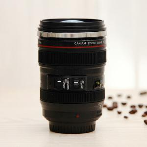 Creative High Quality Camera Lens Shape Special 300ML Valentine Gift Cup - Black