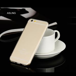 ASLING Practical Ultra-slim Protective Case for iPhone 6 / 6S Transparent Soft TPU Material -