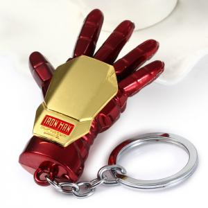 Portable The Avengers-Iron Man Glove Style Metal Key Chain Cool Props - Gold And Red - Size S