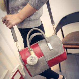 Trendy Metal and Colour Block Design Women's Tote Bag -