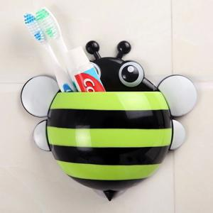 Multifunctional Bee Shape Toothbrush / Spoon / Fork Holder for Bathroom / Kitchen -