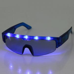 5 Light Cool DJ Style Flashing LED Glasses for Christmas Party Decorations - Blue - W24 Inch * L71 Inch