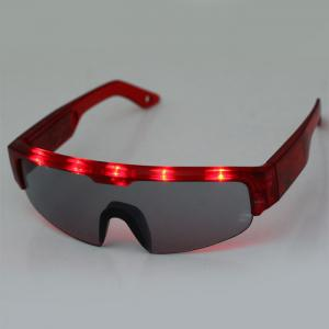 5 Light Cool DJ Style Flashing LED Glasses for Christmas Party Decorations - Red