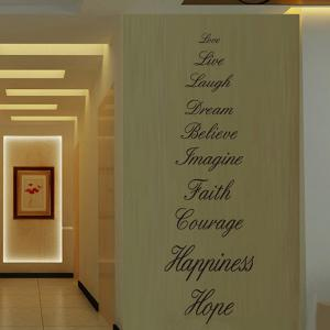 Creative 58*186cm Letters Love Live Hope Wall Stickers For Homes -