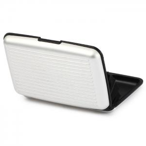 2 in 1 Portable Aluminum Alloy 6 Position Card Holder Wallet -