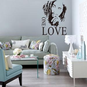 Creative Figure Letters One Love 43*61cm Wall Stickers For Home Decoration - BLACK