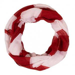 Chic Multicolor Wide Stripe Pattern Voile Scarf For Women -