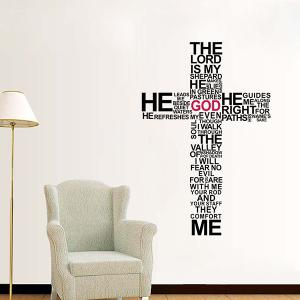 New Removable Cross Words Composing Wall Stickers For Living Rooms -