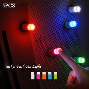 5PCS Small Push Pin Light Multi-functional Colorful LED Sucker for Bulletin Board Refrigerator - Random Color