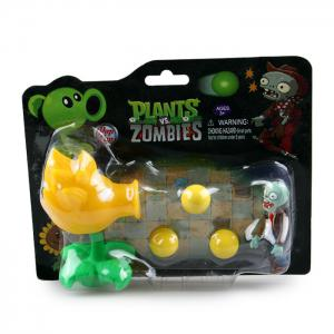 Plants vs. Zombies Shooter Son Gokou Educational Toy Gift Toy with Zombie 3 Ball -