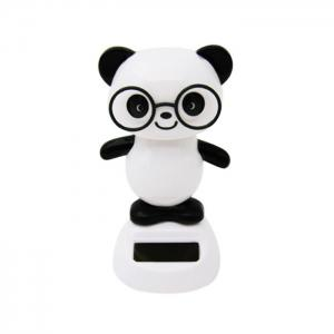 Solar Energy Shaking Panda House Decoration Christmas Gift