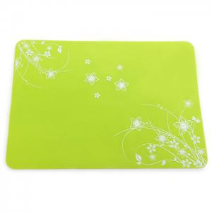 Practical Silicone Placemats Insulated Western Food Mat Home / Restaurant Usage - Green - Pattern D