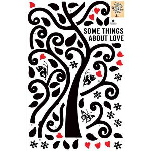 Tree Pattern Removeable Decals Photo Frame Wall Sticker -