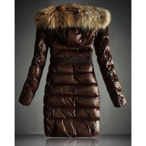 Faux Fur Hooded Quilted Coat -