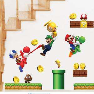 Cartoon Game Theme Wall Mural Stickers For Kid's Rooms