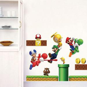 Cartoon Game Theme Wall Mural Stickers For Kid's Rooms -