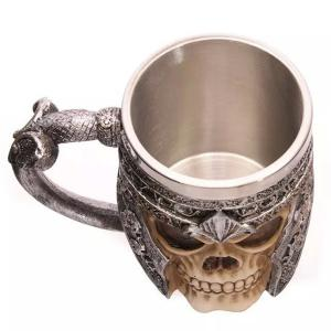 Cool Skull Design Stainless Steel 400ml Coffee Tea Cup -
