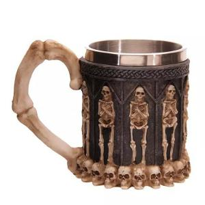 Cool Skeleton Design Stainless Steel 400ml Coffee Tea Cup - COFFEE