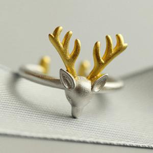 Christmas Style Elk Shape Cuff Ring
