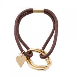 Sweet Heart Double-Layered Elastic Hair Band For Women -