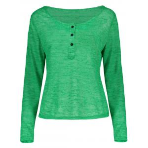 Women's Stylish Pullover Long Sleeve Scoop Neck Solid Color Blouse