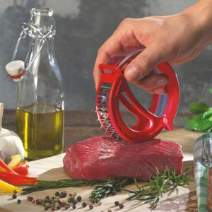 Round Handheld Stainless Steel Tenderloin Beaf Steak Needle Mallet Meat Cooking Tool