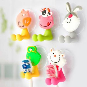 Novel PVC Frog Style Toothbrush Sucker Small Gadgets Holder - GREEN/YELLOW FROG STYLE