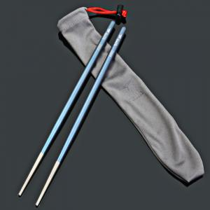 Keith Ti5631 Blue Titanium Alloy Chopsticks with Round Shape -