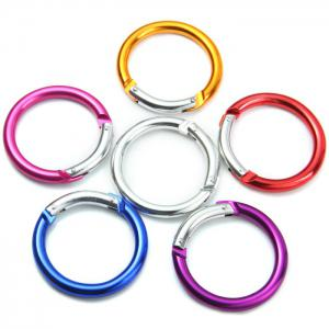 Round-shaped Carabiner Aluminum Alloy Made - Random Color - 2pcs