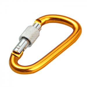 5D D-shaped Lock Carabiner Aluminum Alloy Made - RANDOM COLOR 2PCS