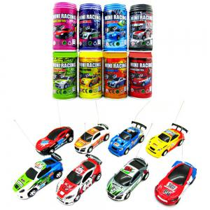 1 : 63 Coke Can Mini RC Radio Remote Control Micro Racing Car - Colormix