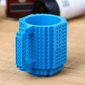 DIY Creative Building Blocks Style Build-On Brick Mug Tea Cup -