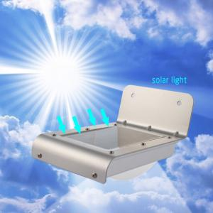 Practical 16 LED Solar Power Light Motion Sensor Garden Lamp Water Resistant for Garden Path Outdoor - White
