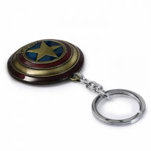 Portable The Avengers-Captain America Style Metal Key Chain Cool Props - BRONZE