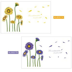 Beautiful Sunflower Style Removable Wall Stickers Colorful Room Window Decoration - YELLOW