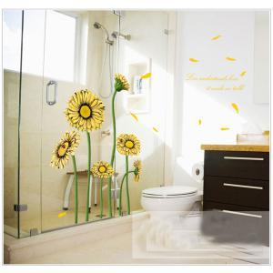 Beautiful Sunflower Style Removable Wall Stickers Colorful Room Window Decoration -
