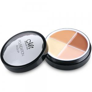 4 Colors Matte Cream Concealer Palette Foundation (02#) - 02#