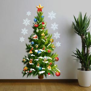 Sweet Removeable Christmas Tree Pattern Wall Sticks Christmas Decoration