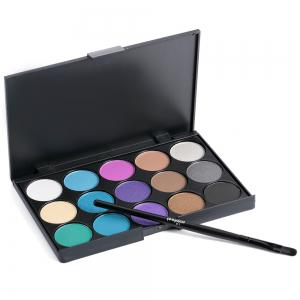 15 Colors Girl Makeup Natural Eye Shadow Palette with Brush - 03#