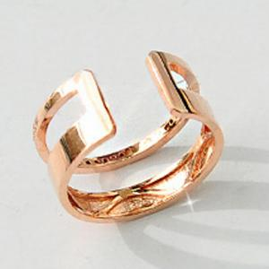 1PC Rhinestone Hollow Out Two Layered Cuff Ring -
