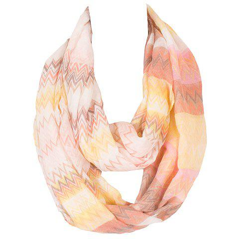 Outfits Chic Wavy Stripe Pattern Multicolor Voile Scarf For Women