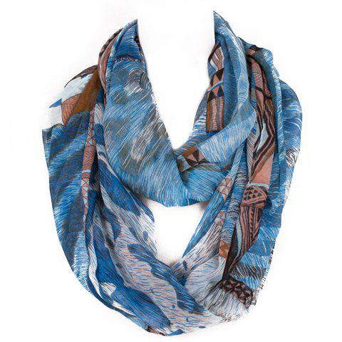 Best Chic Triangle and Fur Pattern Multicolor Voile Scarf For Women
