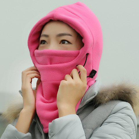New Chic Drawstring and Face Mask Embellished Outdoor Thicken Winter Hat For Women