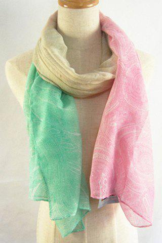 Fashion Chic Paisley Pattern Cream Color Scarf For Women